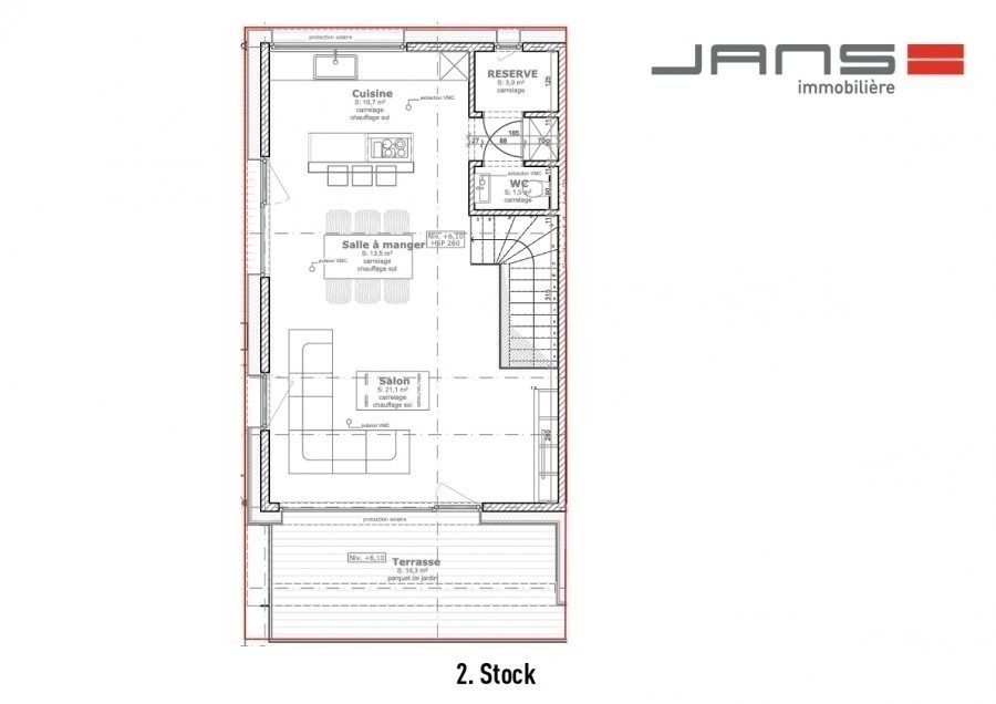 acheter maison jumelée 3 chambres 170 m² dondelange photo 7