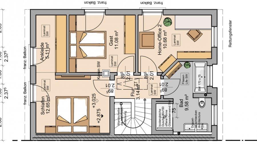 doppelhaushälfte kaufen 4 zimmer 120 m² perl foto 3