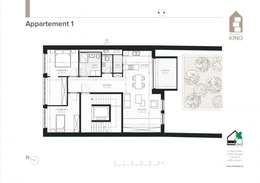 acheter appartement 2 chambres 92.4 m² ettelbruck photo 3