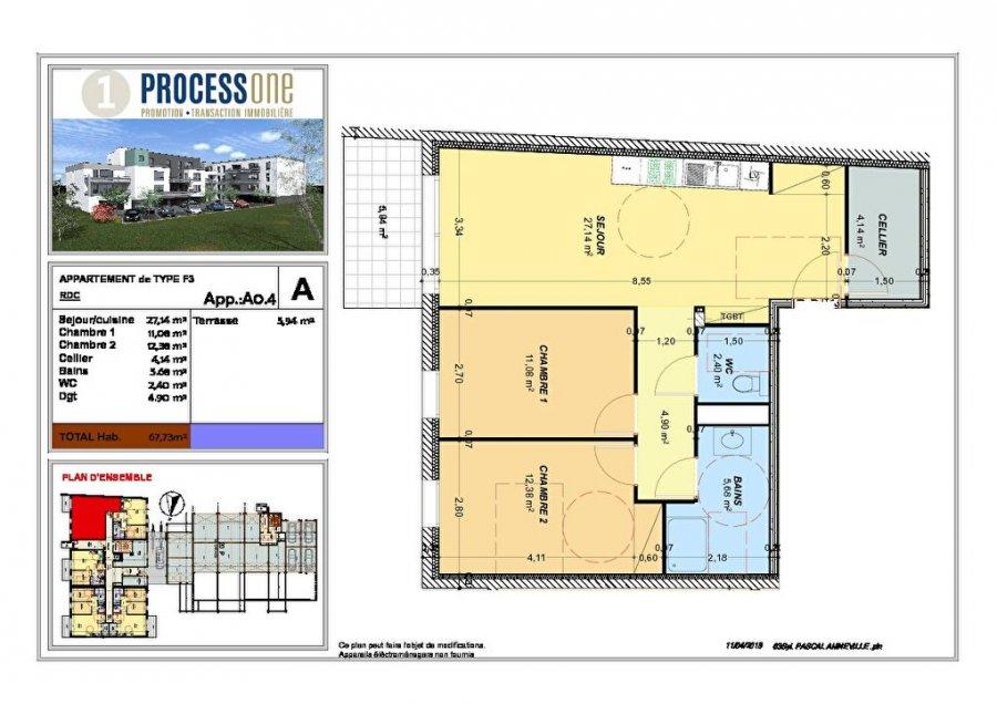 wohnung kaufen 3 zimmer 67.73 m² amnéville foto 1