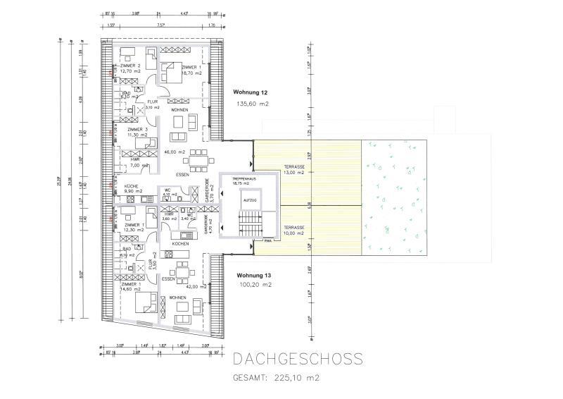 penthouse-wohnung kaufen 4 zimmer 140.6 m² trier foto 4
