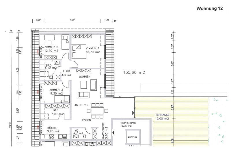 penthouse-wohnung kaufen 4 zimmer 140.6 m² trier foto 3