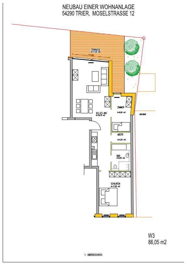 wohnung kaufen 3 zimmer 86 m² trier foto 2