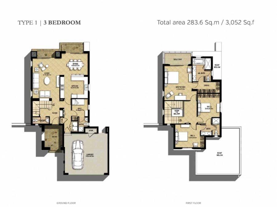 Maison à vendre 3 chambres à Dubai