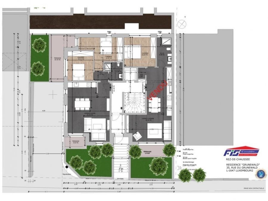 Appartement à vendre 2 chambres à Luxembourg-Neudorf