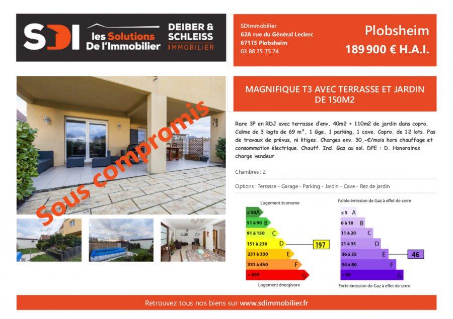 acheter ids_global_subimmotype_apartment 3 pièces 69 m² plobsheim photo 1
