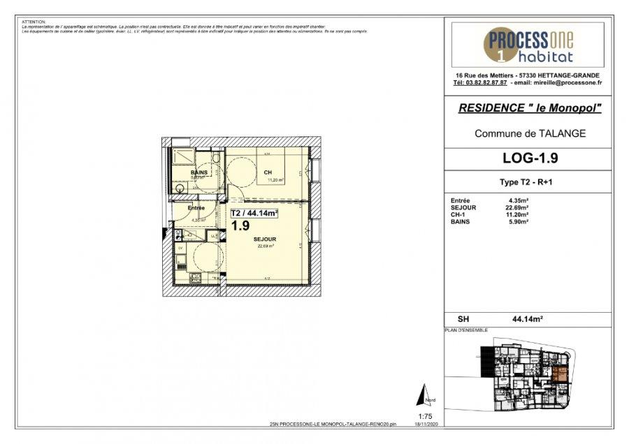 acheter appartement 2 pièces 44.14 m² talange photo 2