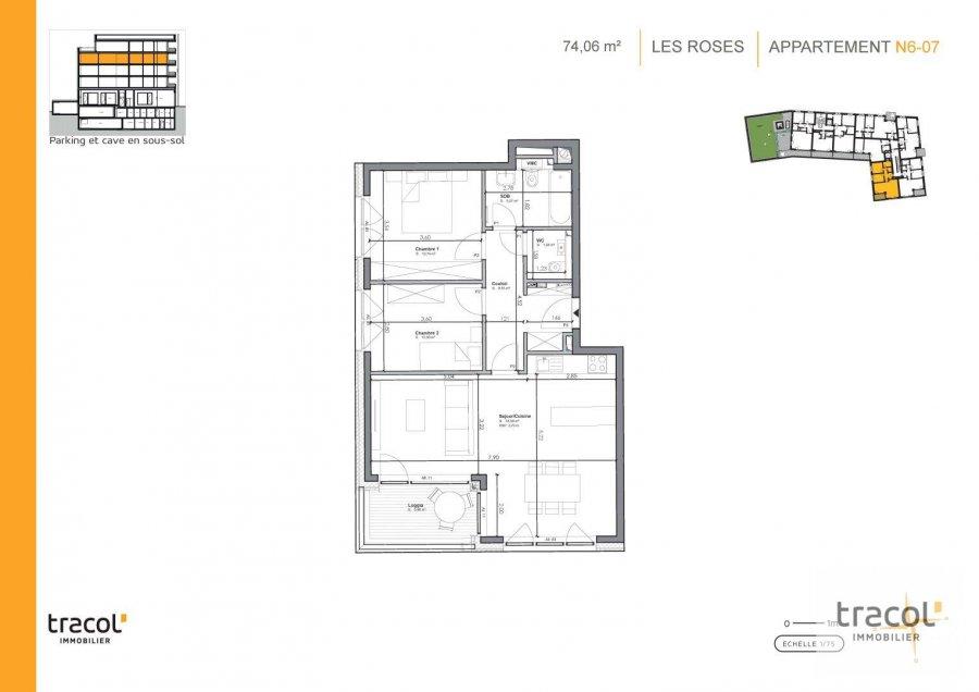 acheter appartement 2 chambres 74.06 m² niederkorn photo 2