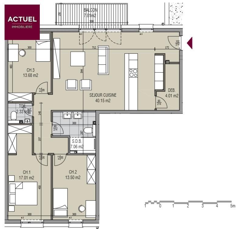 wohnung kaufen 3 schlafzimmer 114.75 m² kayl foto 4