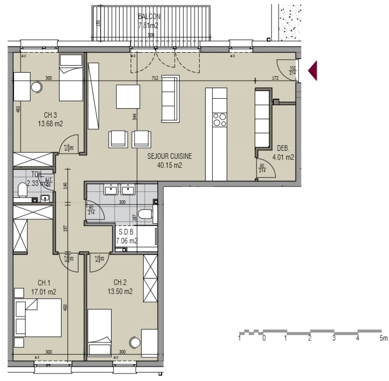 apartment for buy 3 bedrooms 114.75 m² kayl photo 4