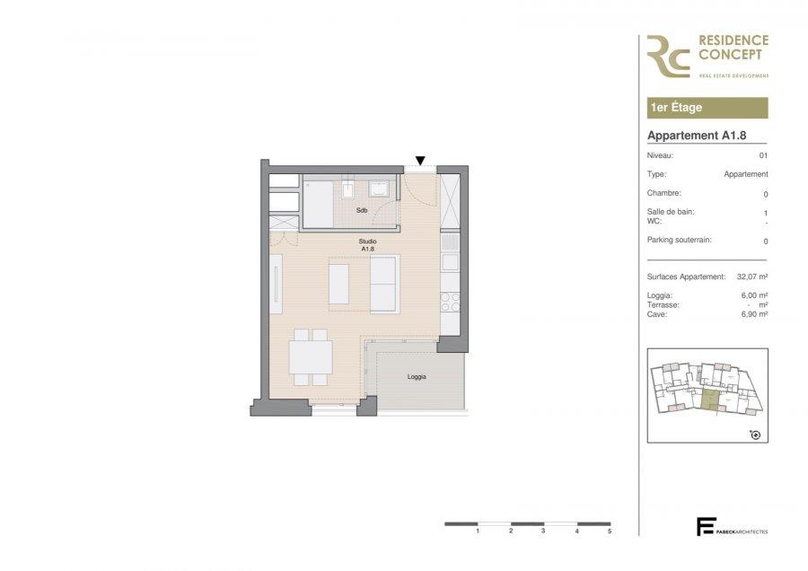 acheter studio 0 chambre 32.07 m² luxembourg photo 2