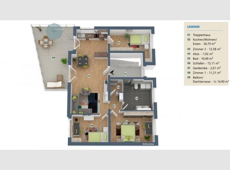 Penthouse à vendre 4 Pièces à Perl (DE) - Réf. 7136898