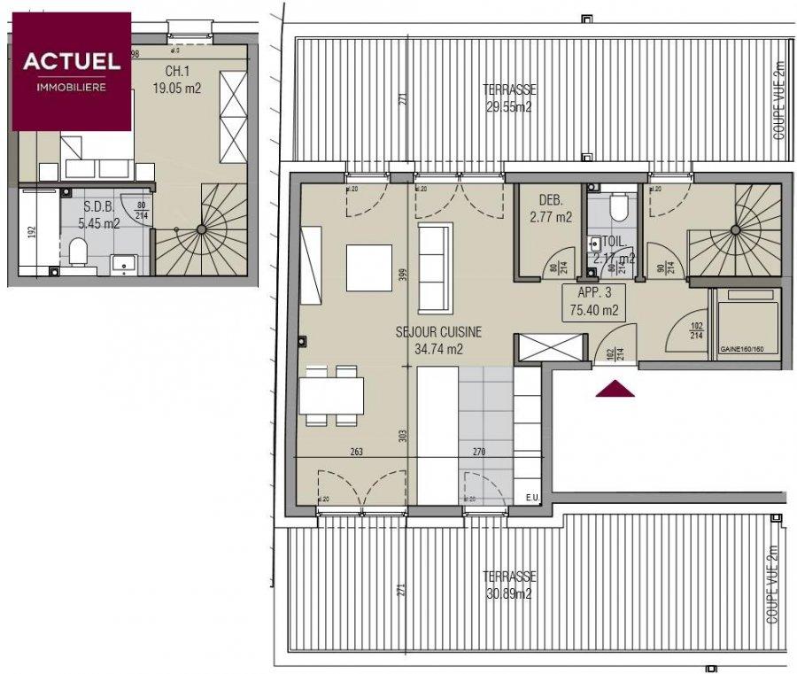 acheter penthouse 1 chambre 105.41 m² kayl photo 4