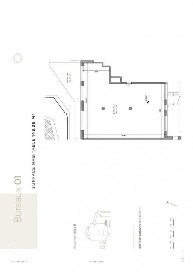 acheter bureau 0 chambre 177.75 m² differdange photo 6
