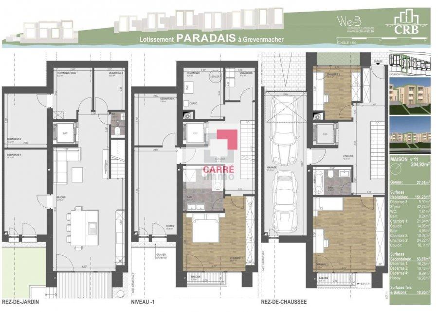 acheter maison jumelée 4 chambres 204.92 m² grevenmacher photo 4