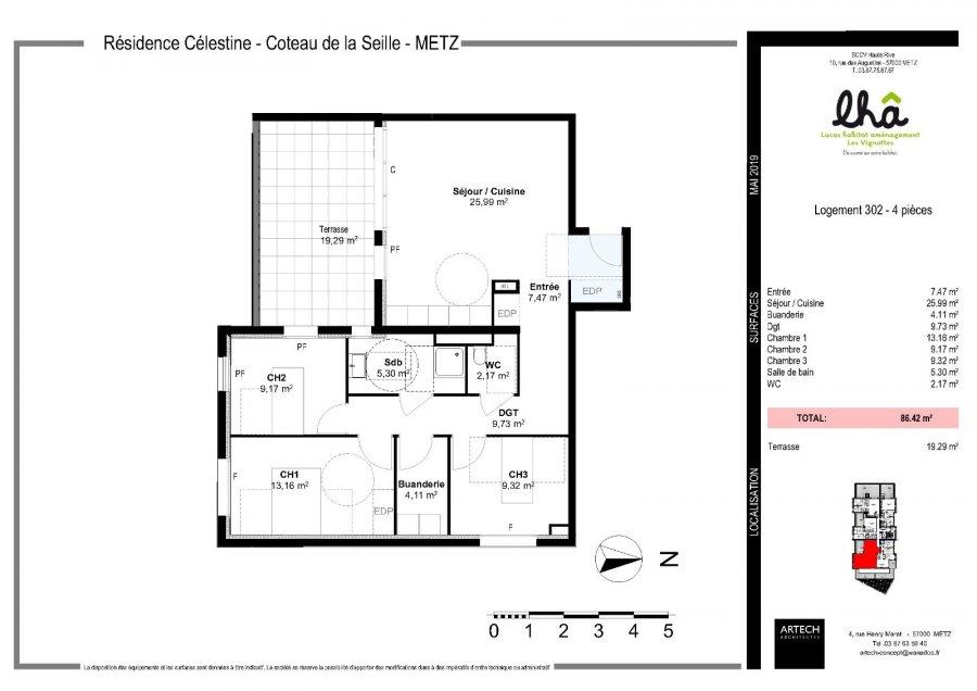 acheter appartement 4 pièces 86.42 m² metz photo 4