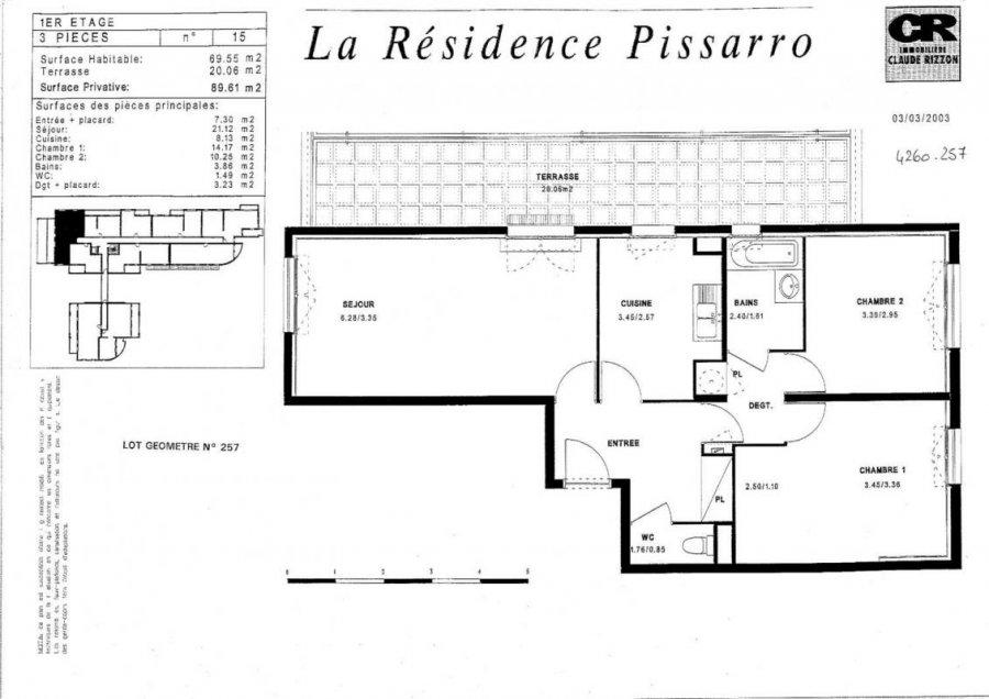 louer appartement 3 pièces 69 m² vandoeuvre-lès-nancy photo 4