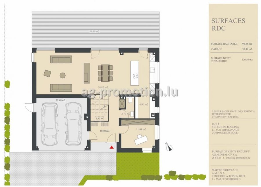 detached house for buy 5 bedrooms 311.78 m² erpeldange (bous) photo 2
