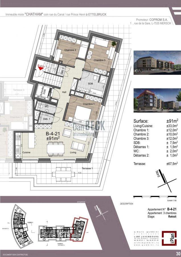acheter penthouse 3 chambres 97.5 m² ettelbruck photo 1