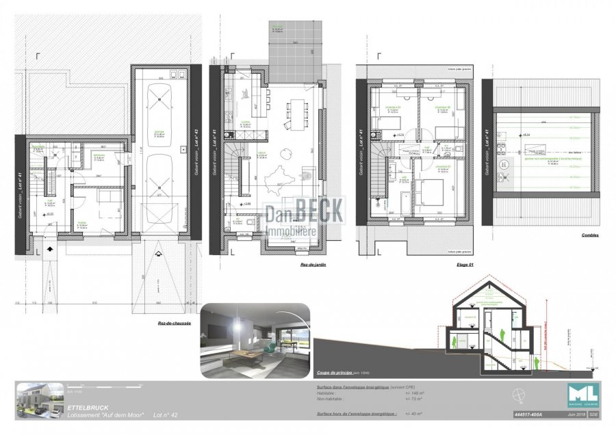 acheter maison 3 chambres 148 m² ettelbruck photo 3