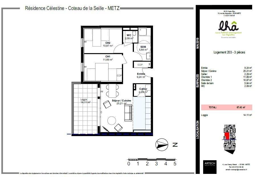 acheter appartement 3 pièces 67.48 m² metz photo 3