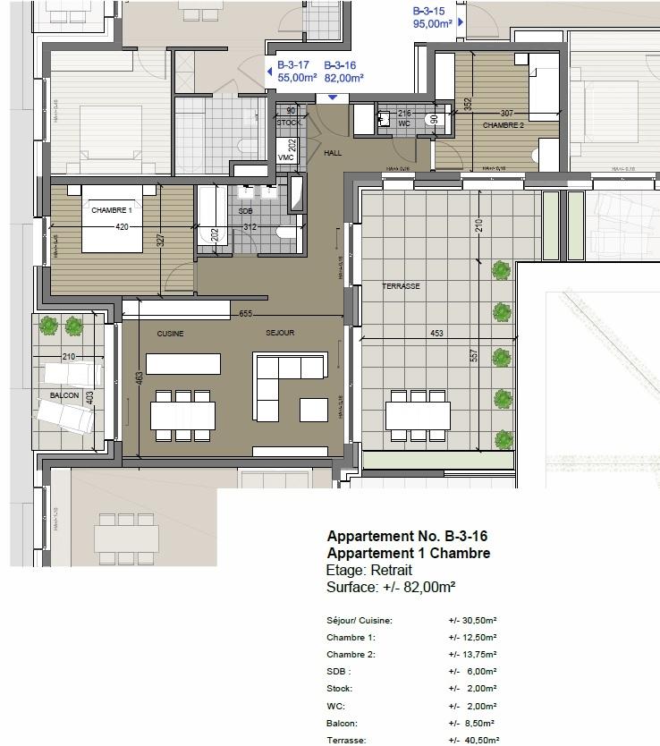 wohnung kaufen 2 schlafzimmer 81.92 m² differdange foto 2