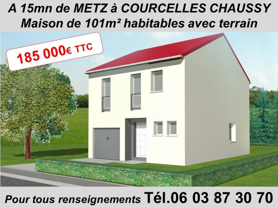 acheter maison 5 pièces 101 m² courcelles-chaussy photo 1