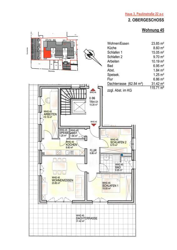 louer penthouse 4 pièces 115.71 m² trier photo 2