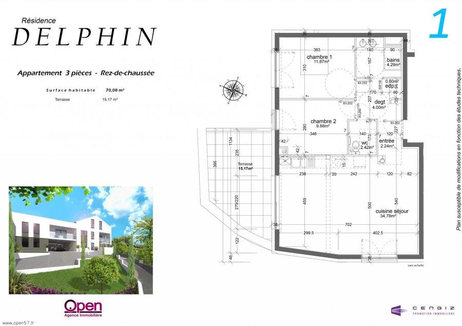acheter appartement 3 pièces 70 m² hettange-grande photo 6