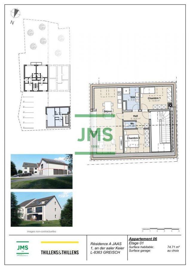 Appartement à vendre 2 chambres à Greisch