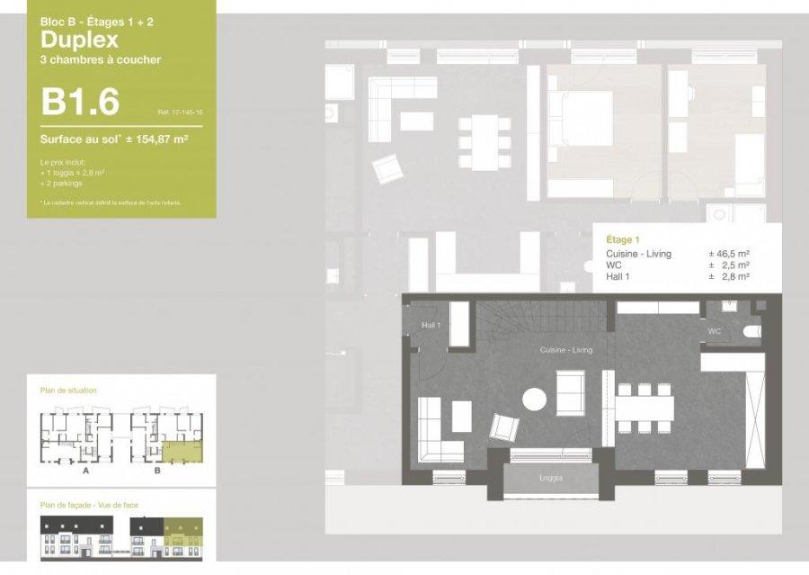 acheter duplex 3 chambres 154.87 m² roodt (redange) photo 2