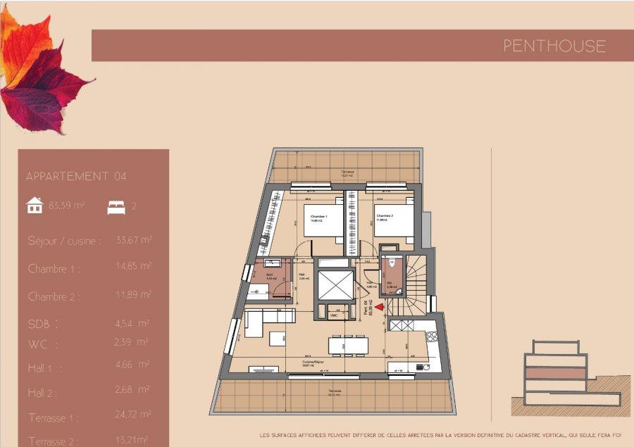 acheter penthouse 2 chambres 83.59 m² junglinster photo 3