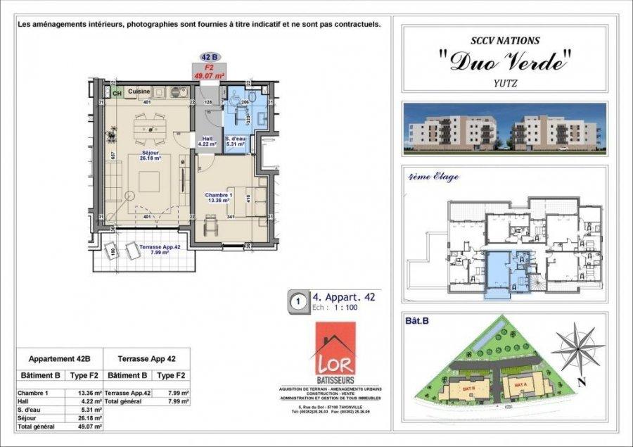 acheter appartement 2 pièces 49.07 m² yutz photo 4