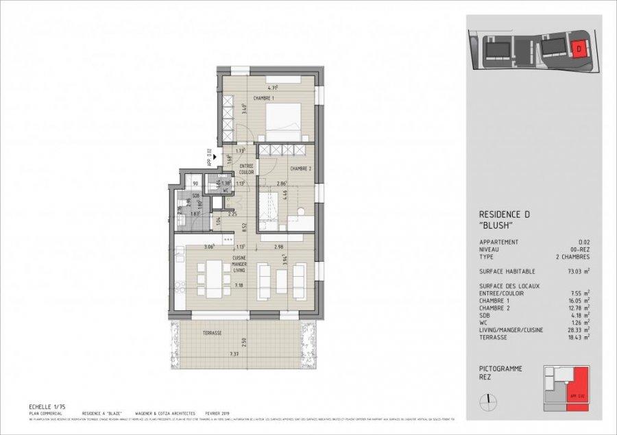 acheter appartement 2 chambres 73 m² bereldange photo 7