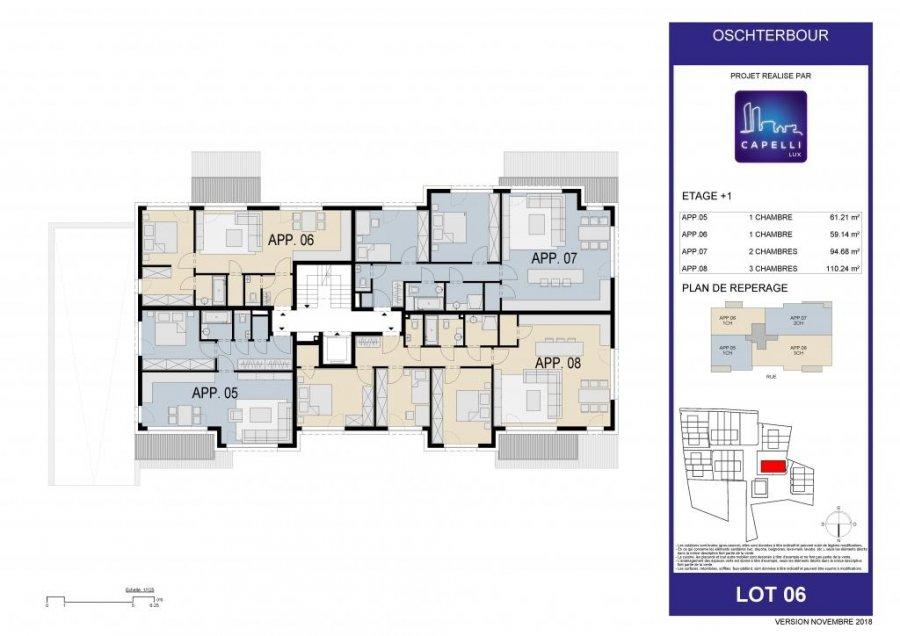 acheter appartement 1 chambre 62.21 m² differdange photo 7