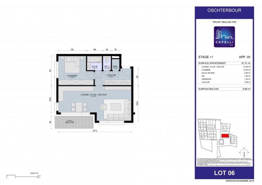 acheter appartement 1 chambre 62.21 m² differdange photo 6