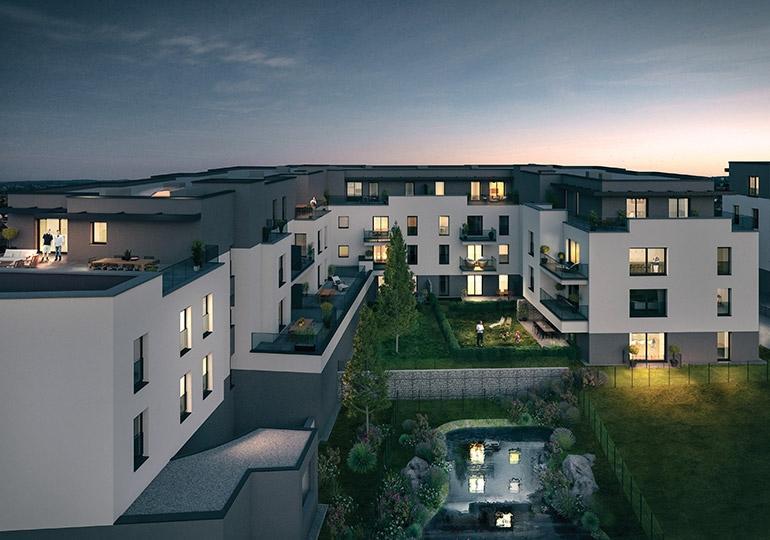 wohnung kaufen 3 schlafzimmer 113.19 m² howald foto 1