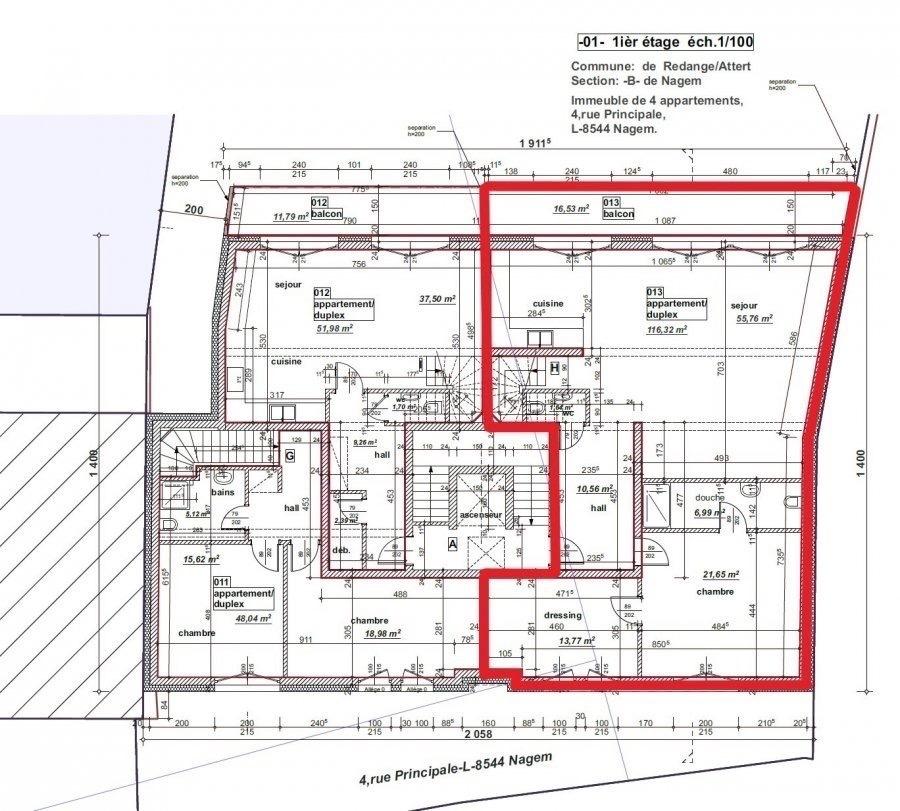 Appartement à vendre 5 chambres à Redange