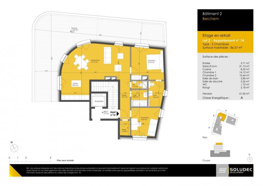 apartment for buy 2 bedrooms 87.09 m² berchem photo 1