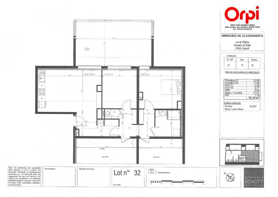 acheter appartement 3 pièces 72.1 m² distroff photo 3
