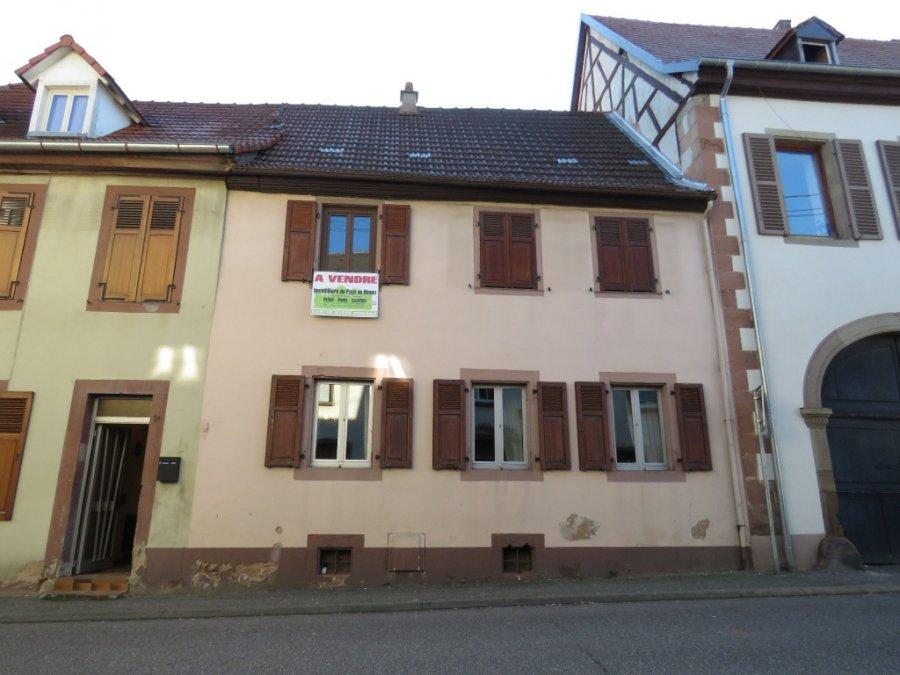 Maison individuelle en vente bouxwiller 99 m 55 000 for Baie de brassage maison individuelle