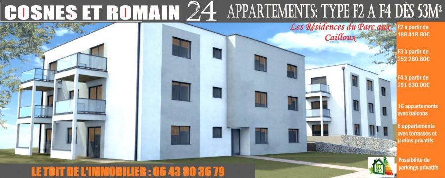 acheter appartement 3 pièces 59.31 m² cosnes-et-romain photo 2