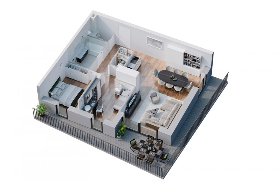 wohnung kaufen 2 schlafzimmer 74.08 m² belval foto 3