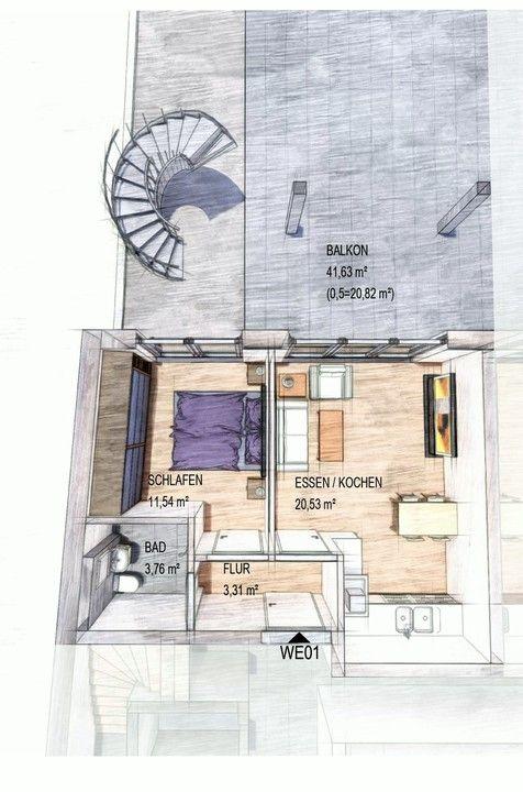 wohnung kaufen 2 zimmer 62.18 m² trier foto 1