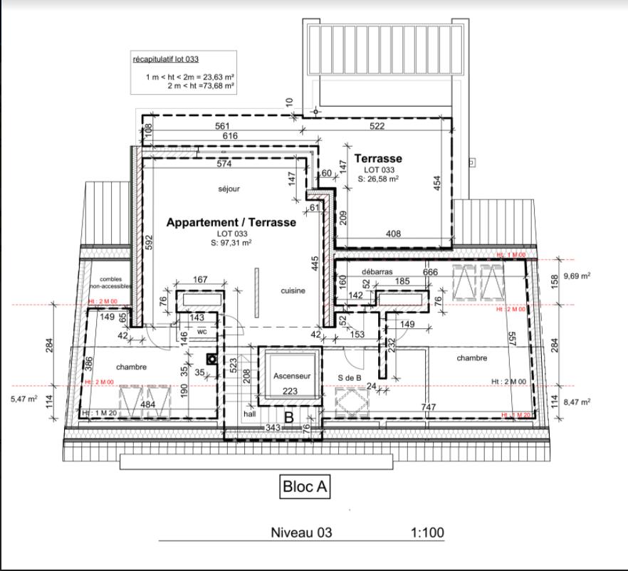 acheter penthouse 2 chambres 97.31 m² wiltz photo 3