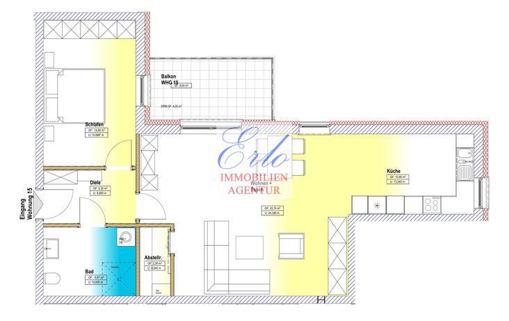 acheter appartement 2 pièces 77.74 m² zerf photo 2