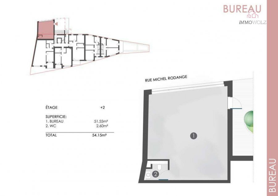 acheter bureau 0 chambre 54.15 m² wiltz photo 2