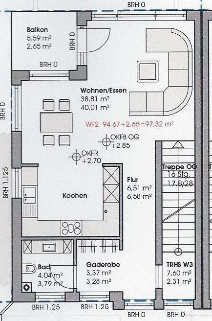 wohnung kaufen 3 zimmer 97.32 m² perl foto 2