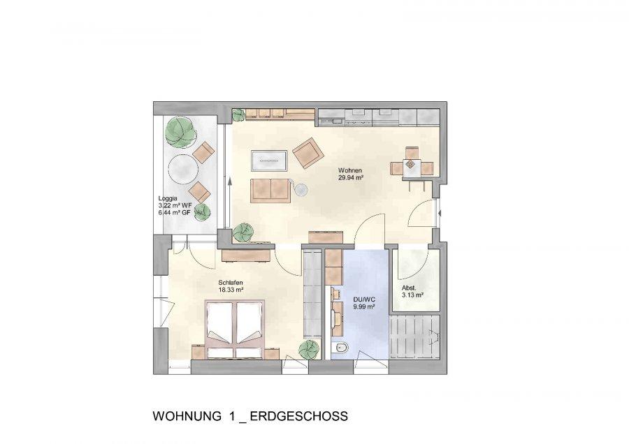 wohnung kaufen 2 zimmer 66.14 m² trier foto 4