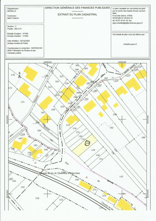 Terrain constructible à vendre à Brettnach